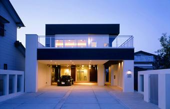 SE構法-広い間口の木造ガレージハウス3